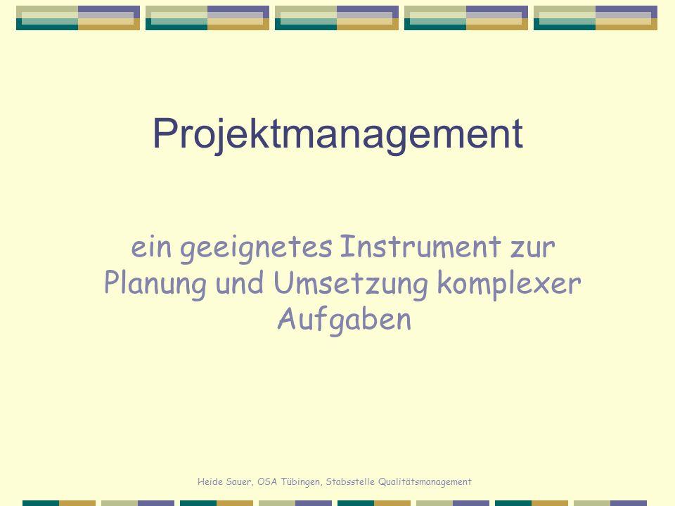 ein geeignetes Instrument zur Planung und Umsetzung komplexer Aufgaben