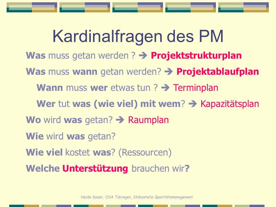 Kardinalfragen des PM Was muss getan werden  Projektstrukturplan