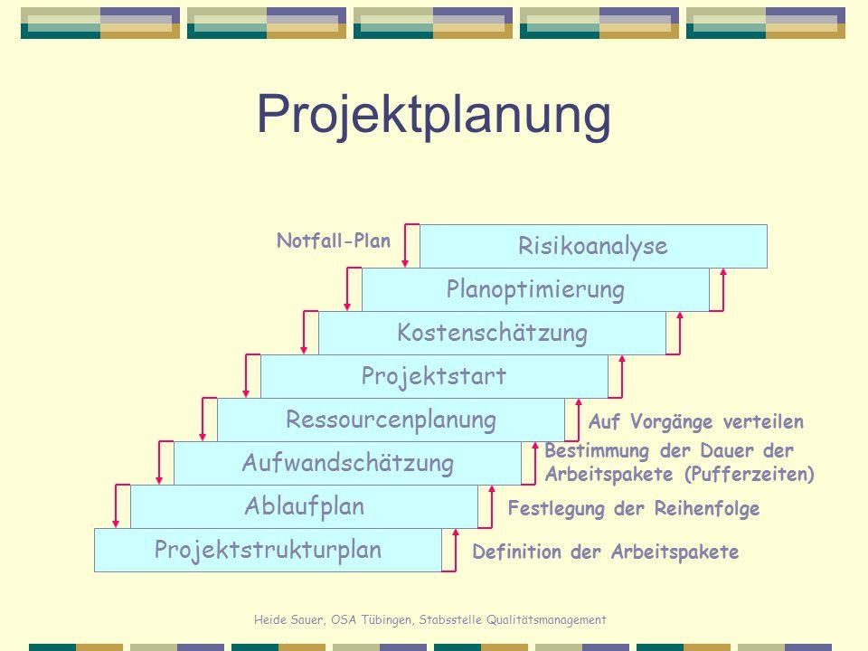 Projektplanung Risikoanalyse Planoptimierung Kostenschätzung