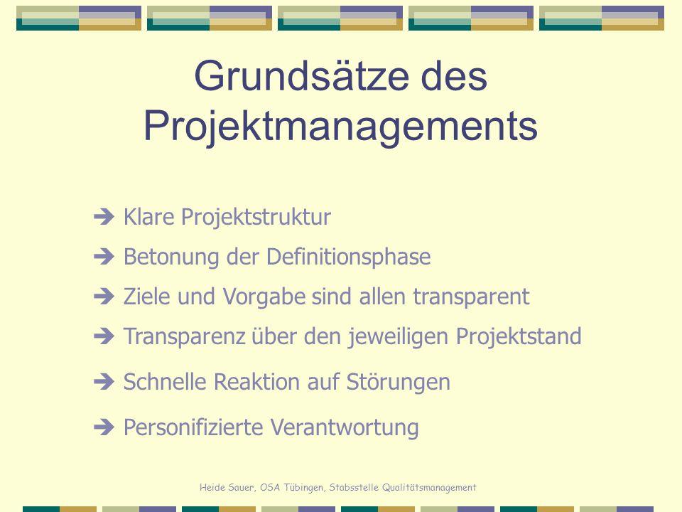Grundsätze des Projektmanagements