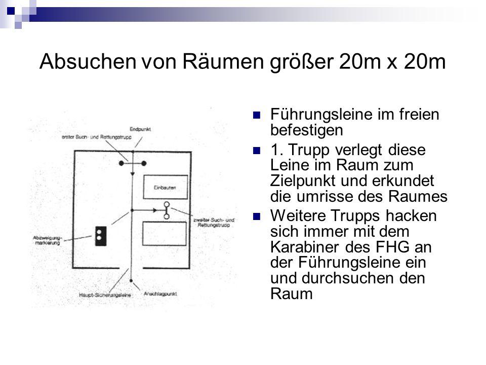 Absuchen von Räumen größer 20m x 20m