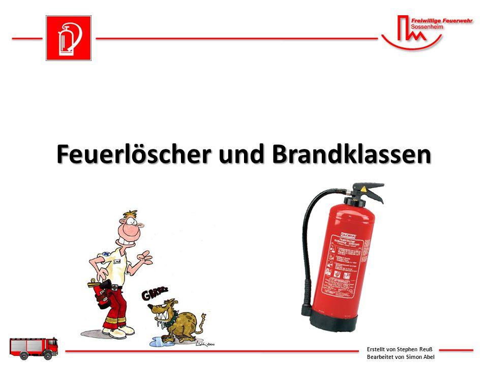 Feuerlöscher und Brandklassen