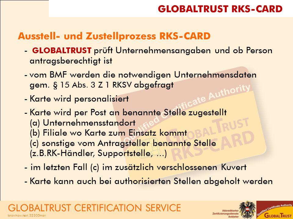 Ausstell- und Zustellprozess RKS-CARD