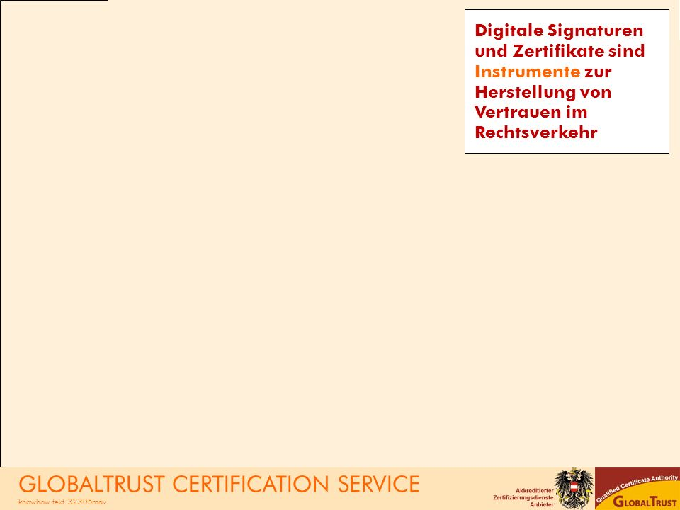 GLOBALTRUST CERTIFICATION SERVICE
