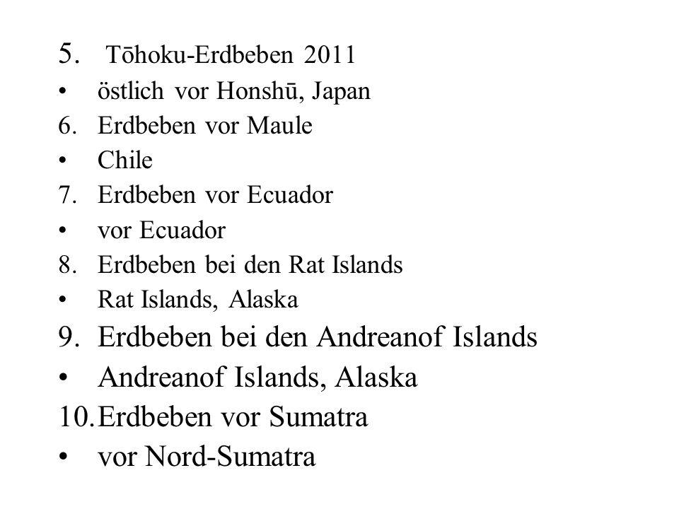 Erdbeben bei den Andreanof Islands Andreanof Islands, Alaska