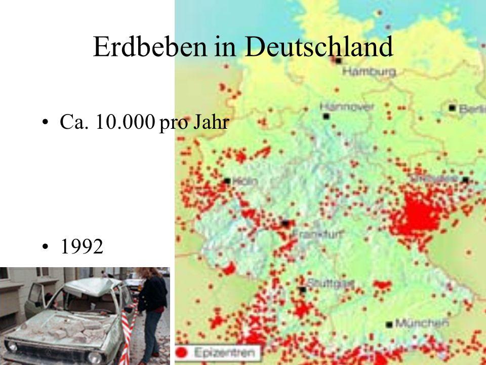 Erdbeben in Deutschland