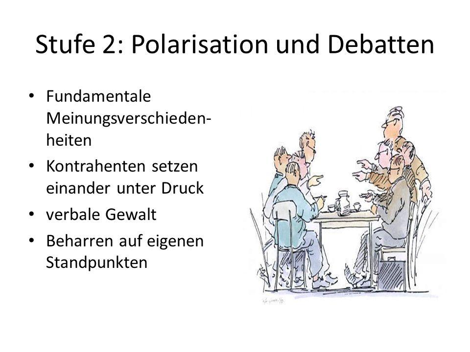 Stufe 2: Polarisation und Debatten