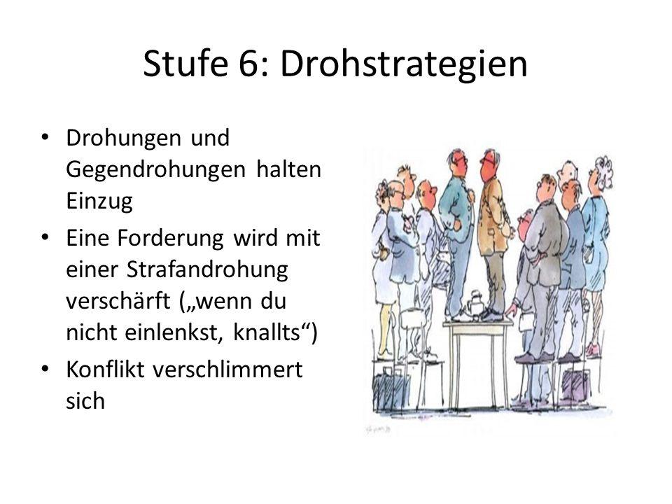 Stufe 6: Drohstrategien