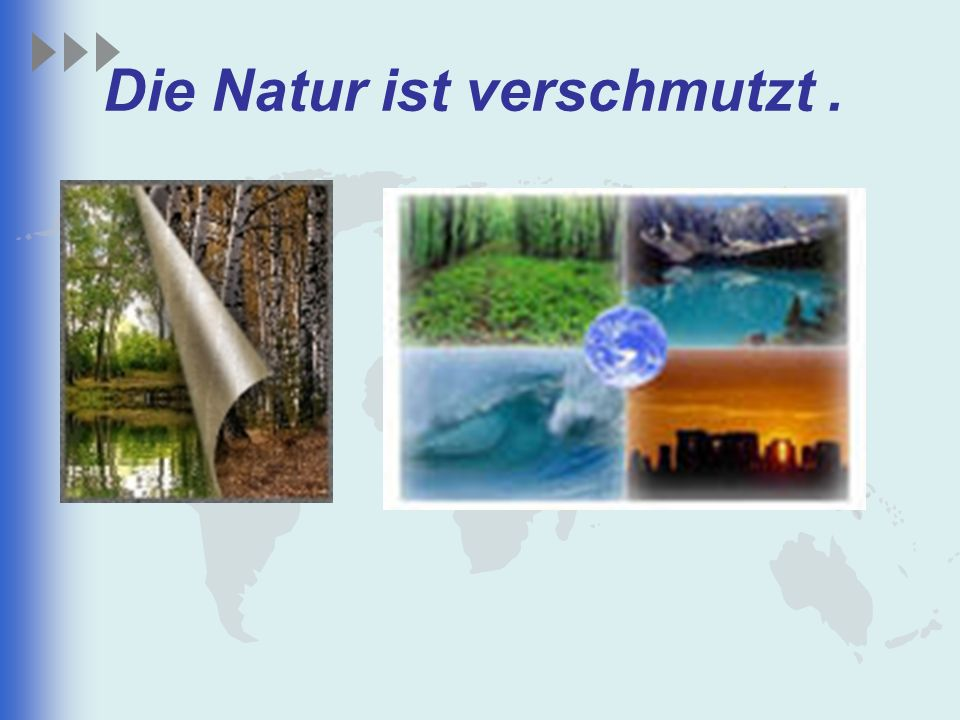 Die Natur ist verschmutzt .