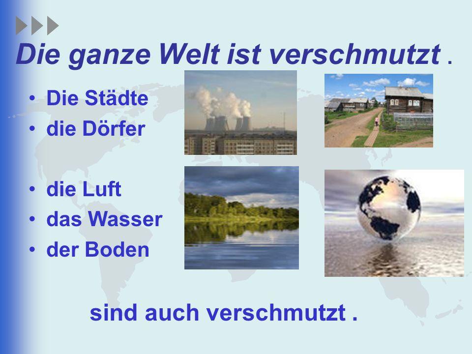 Die ganze Welt ist verschmutzt .
