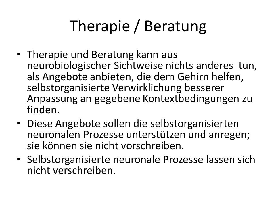 Therapie / Beratung