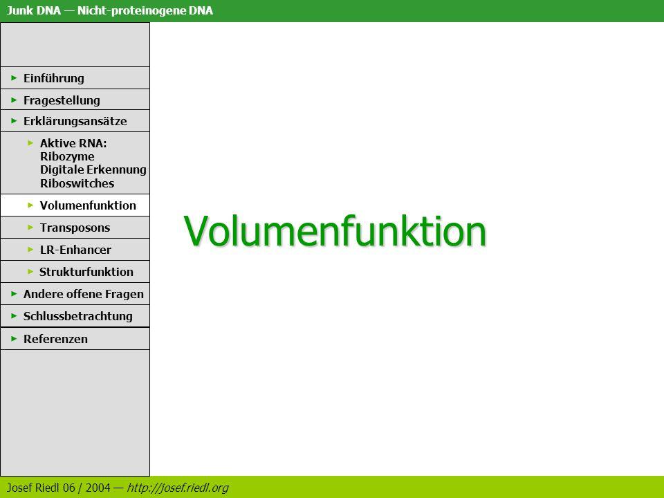 Volumenfunktion Einführung Fragestellung Erklärungsansätze