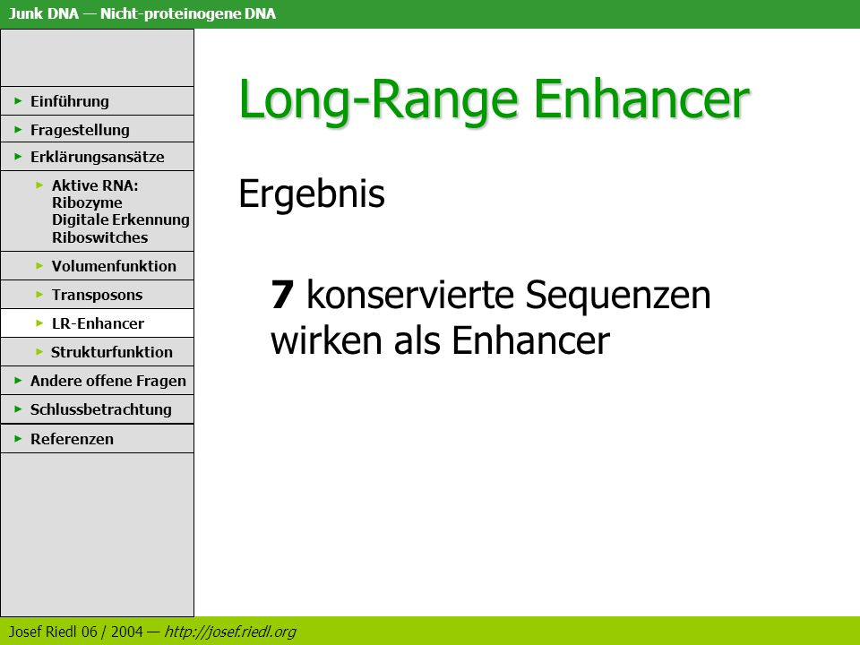 Long-Range Enhancer Ergebnis