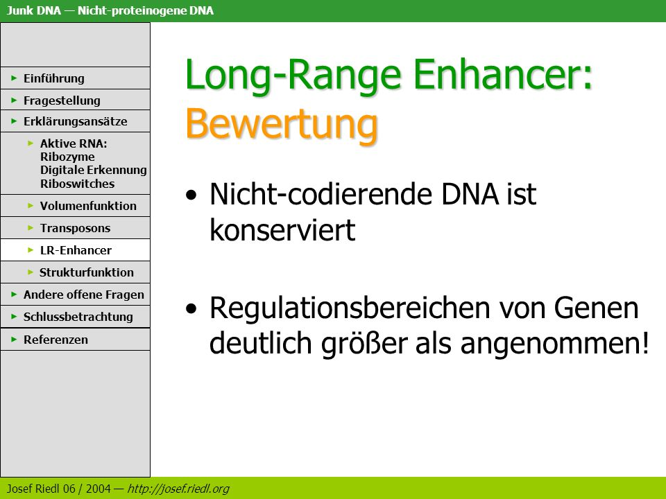 Long-Range Enhancer: Bewertung