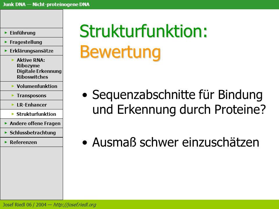 Strukturfunktion: Bewertung