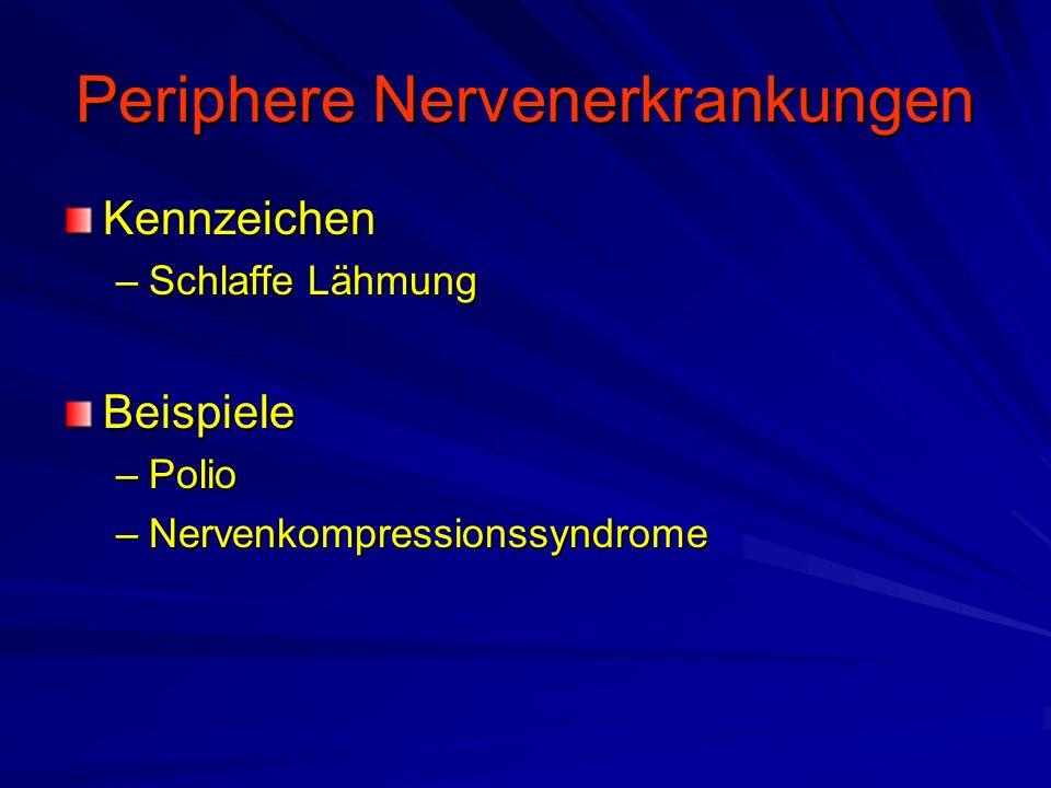 Periphere Nervenerkrankungen