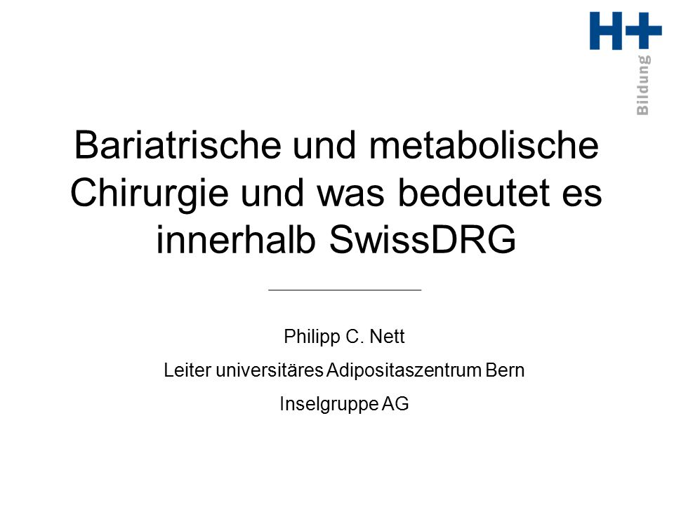 Leiter universitäres Adipositaszentrum Bern