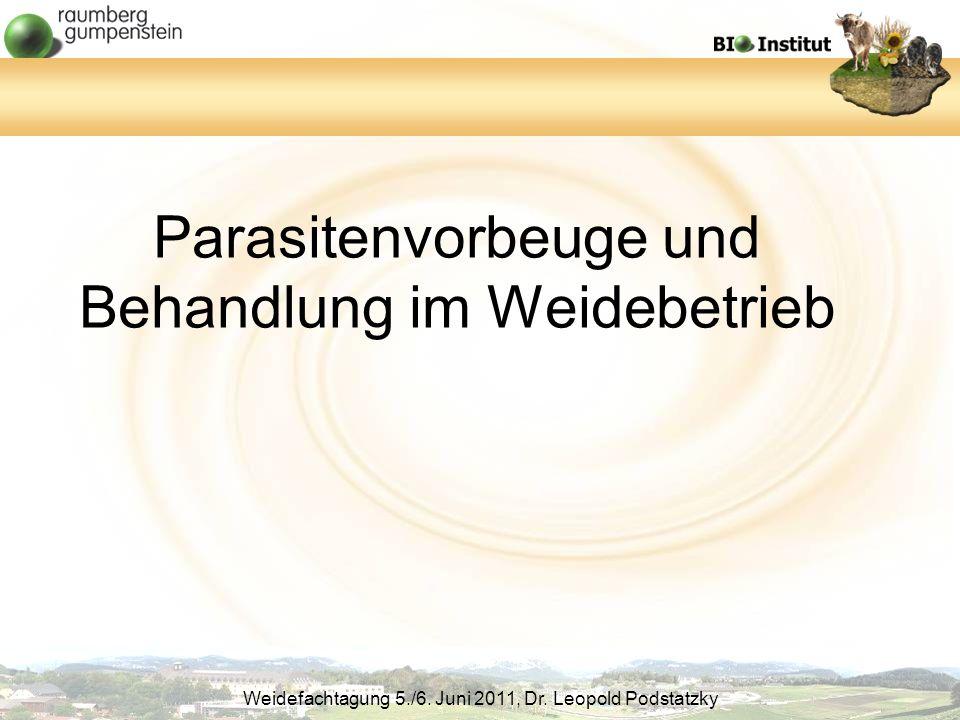 Parasitenvorbeuge und Behandlung im Weidebetrieb