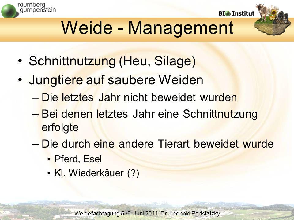 Weide - Management Schnittnutzung (Heu, Silage)