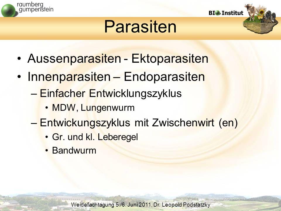 Parasiten Aussenparasiten - Ektoparasiten
