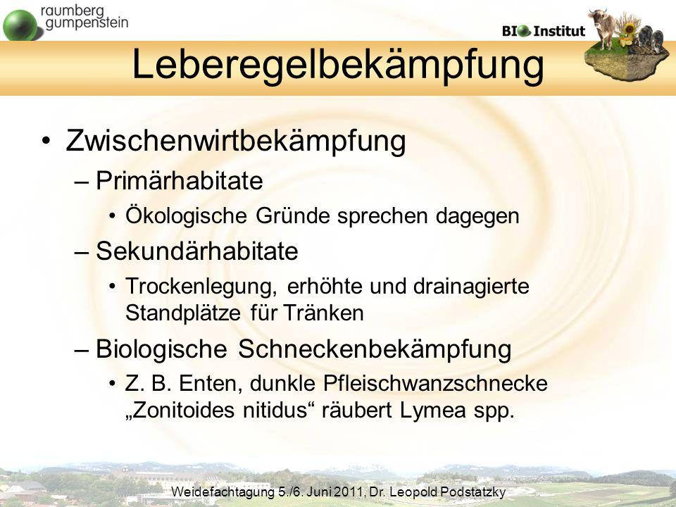 Leberegelbekämpfung Zwischenwirtbekämpfung Primärhabitate