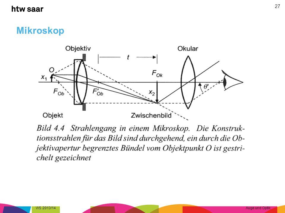 Mikroskop WS 2013/14 Auge und Optik