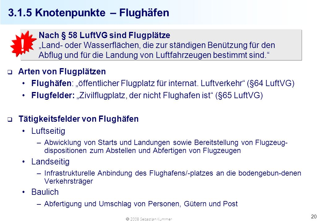 3.1.5 Knotenpunkte – Flughäfen