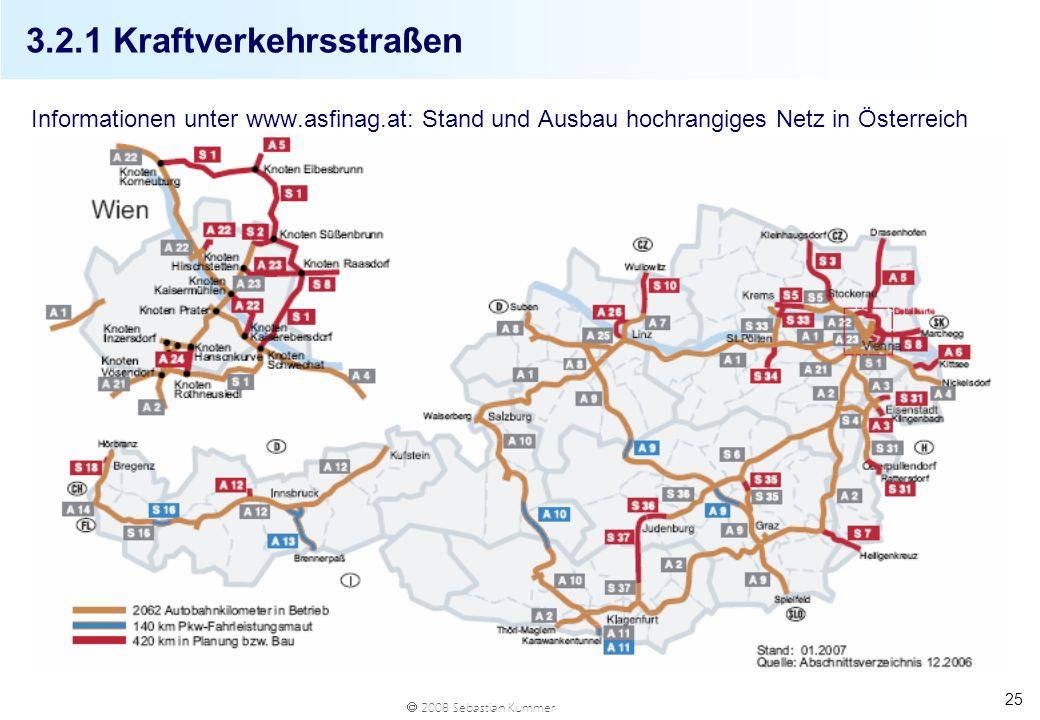 3.2.1 Kraftverkehrsstraßen