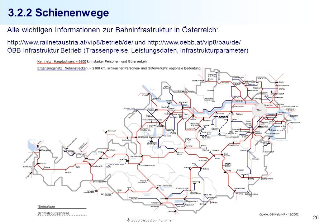 3.2.2 SchienenwegeAlle wichtigen Informationen zur Bahninfrastruktur in Österreich: