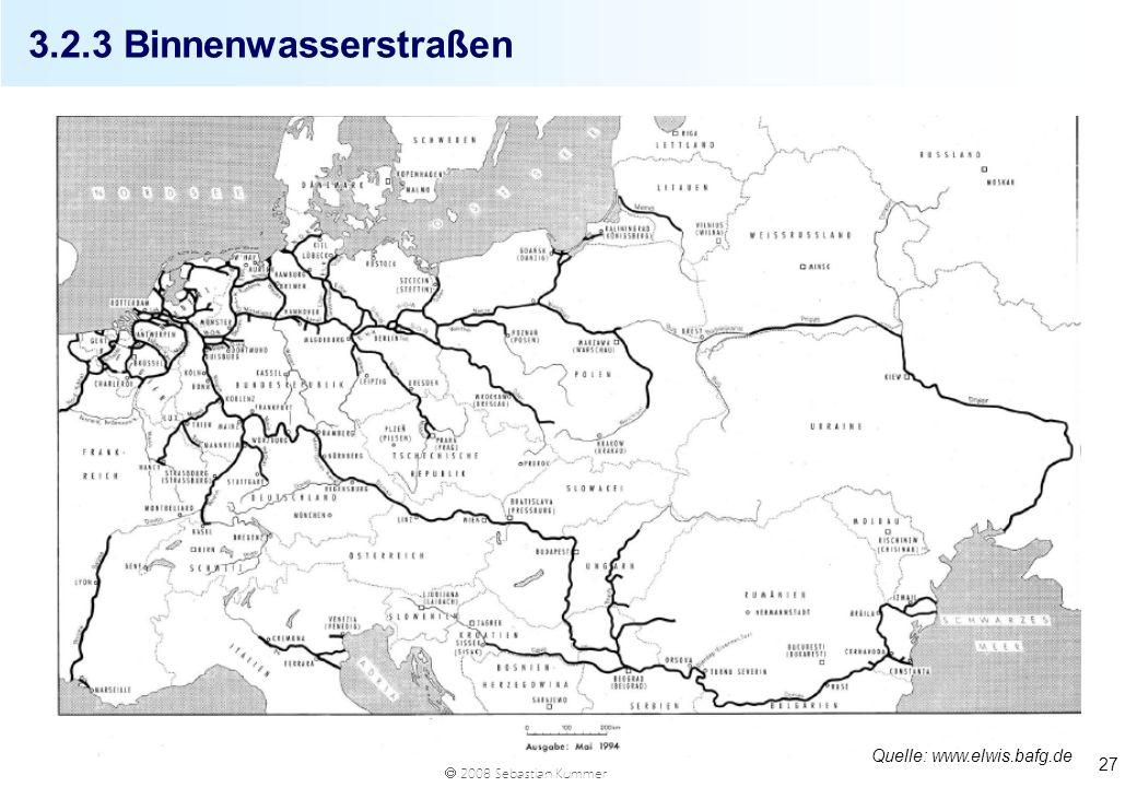 3.2.3 Binnenwasserstraßen Quelle: www.elwis.bafg.de