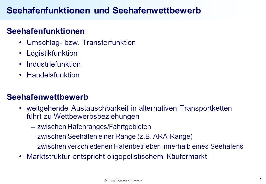 Seehafenfunktionen und Seehafenwettbewerb