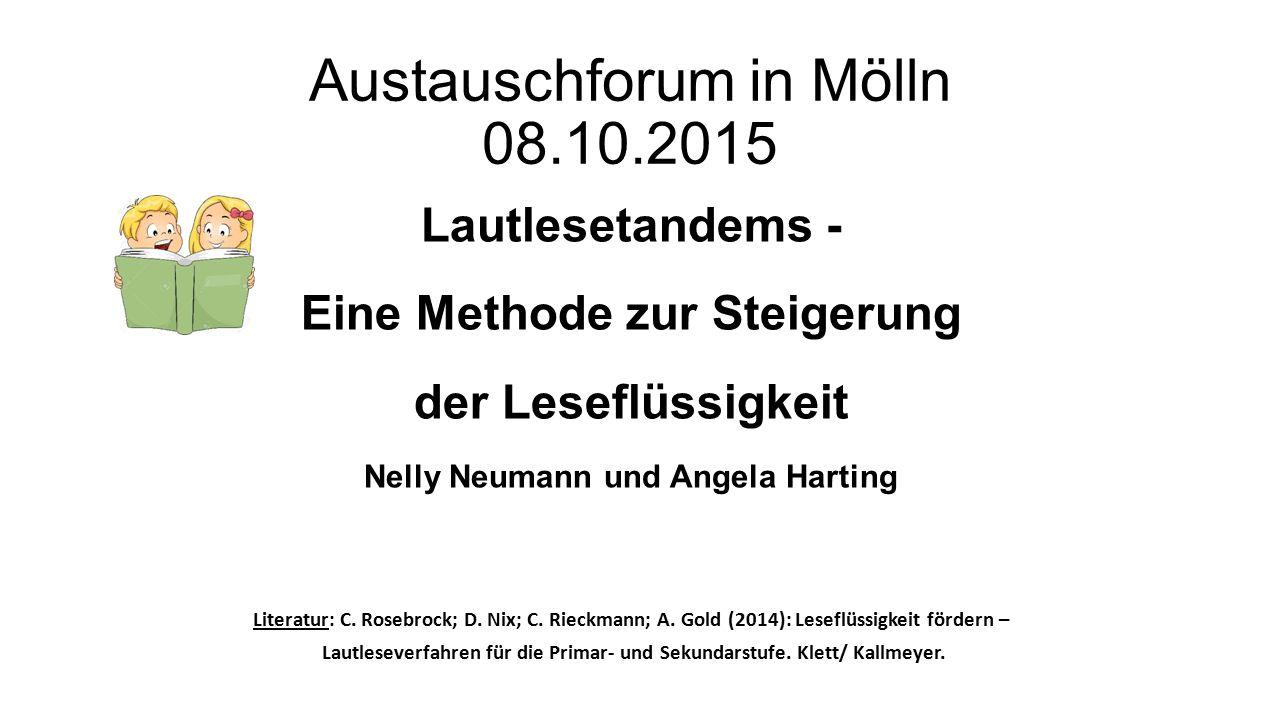 Austauschforum in Mölln 08.10.2015
