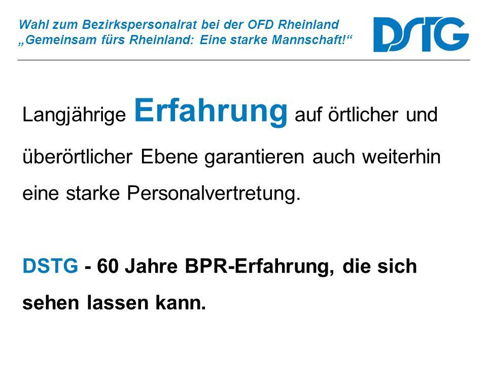 DSTG - 60 Jahre BPR-Erfahrung, die sich sehen lassen kann.