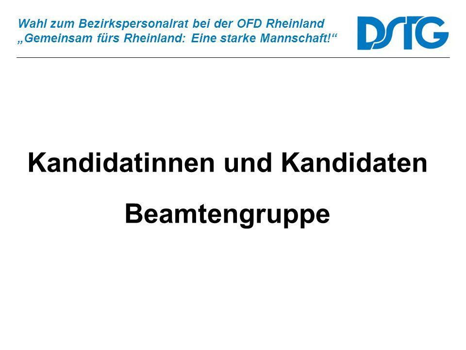 Kandidatinnen und Kandidaten Beamtengruppe