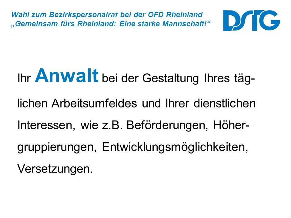 Wahl zum Bezirkspersonalrat bei der OFD Rheinland