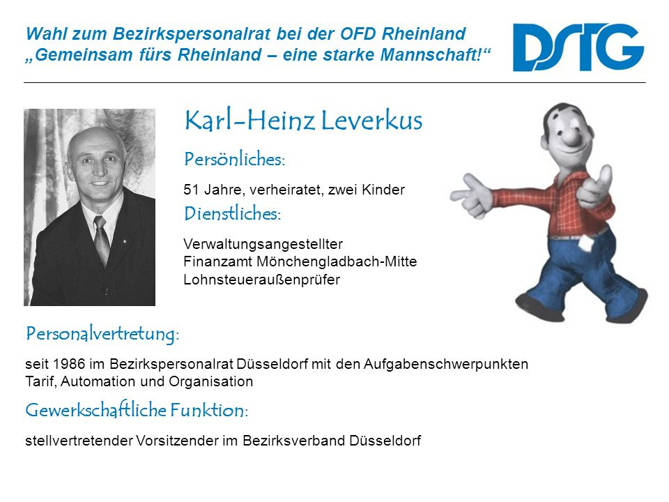 Karl-Heinz Leverkus Persönliches: Dienstliches: Personalvertretung: