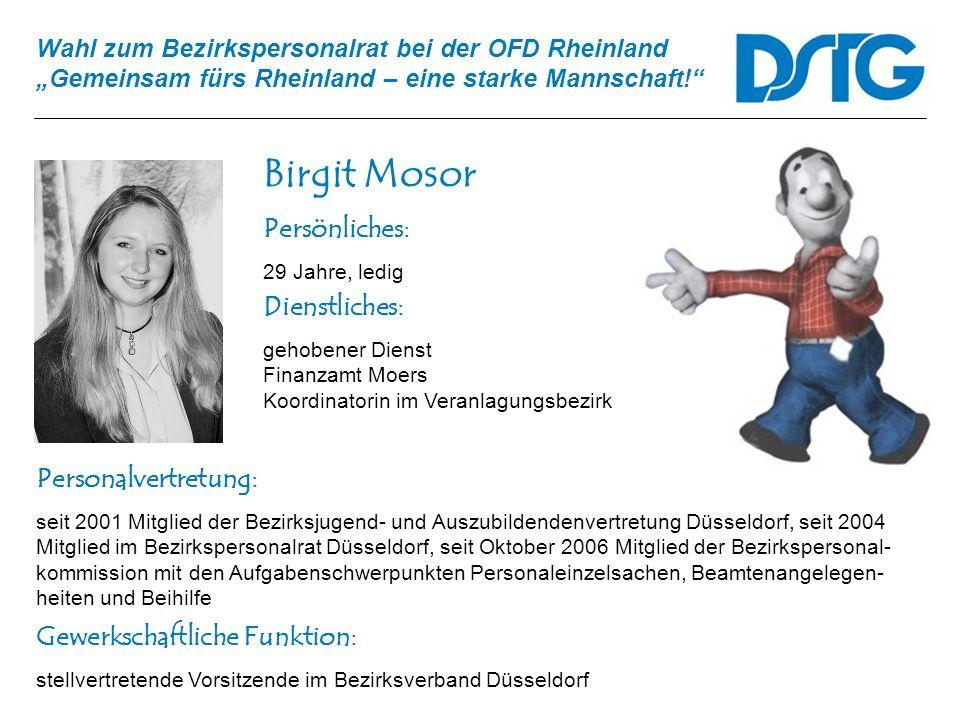 Birgit Mosor Persönliches: Dienstliches: Personalvertretung: