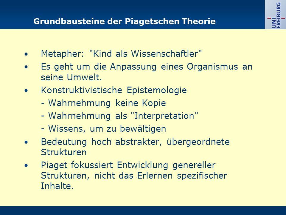 Grundbausteine der Piagetschen Theorie