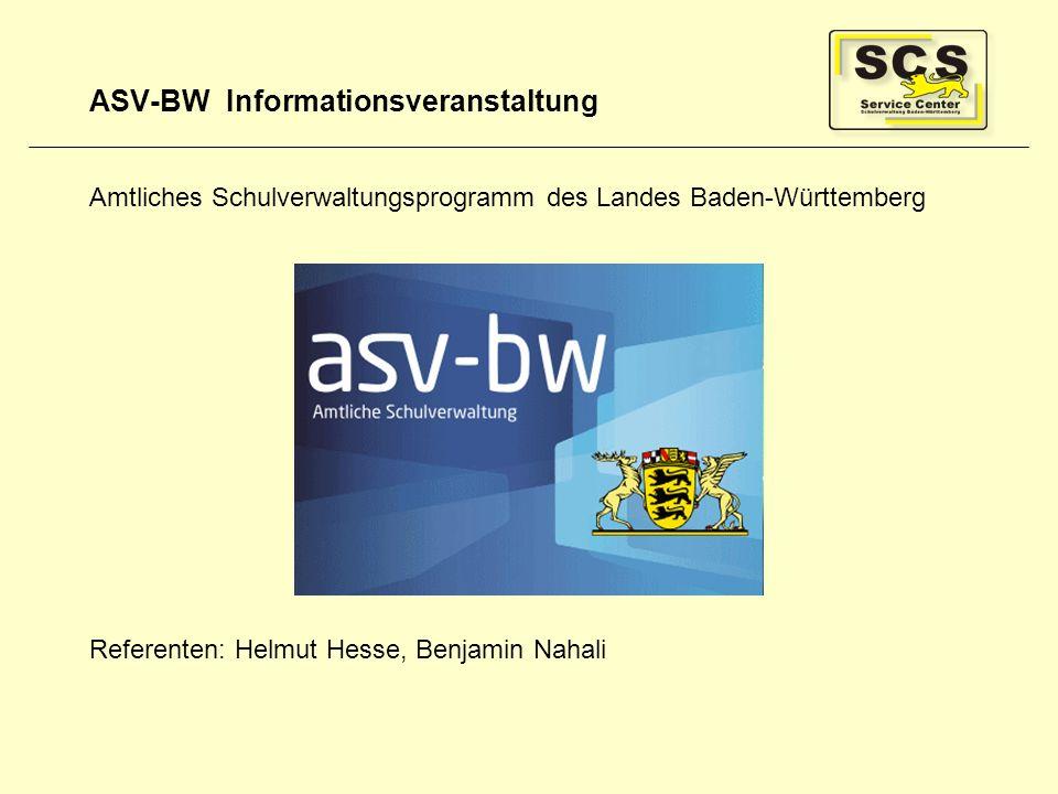 ASV-BW Informationsveranstaltung