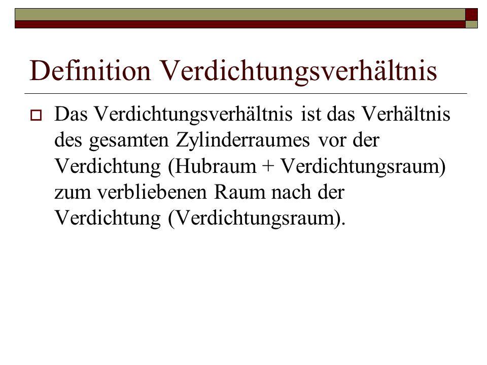 Definition Verdichtungsverhältnis