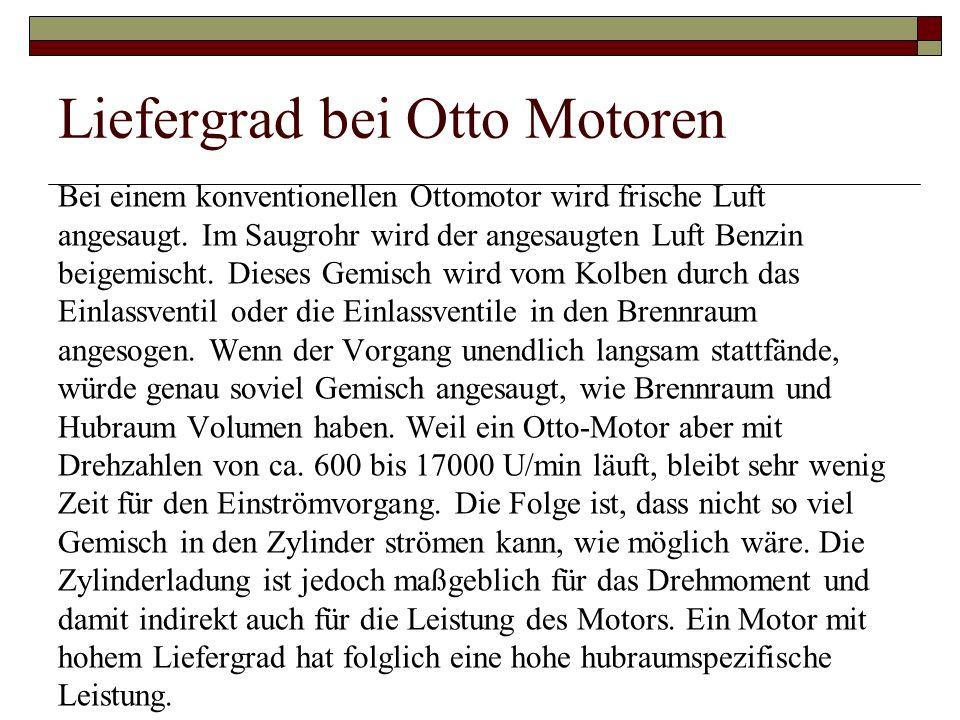 Liefergrad bei Otto Motoren