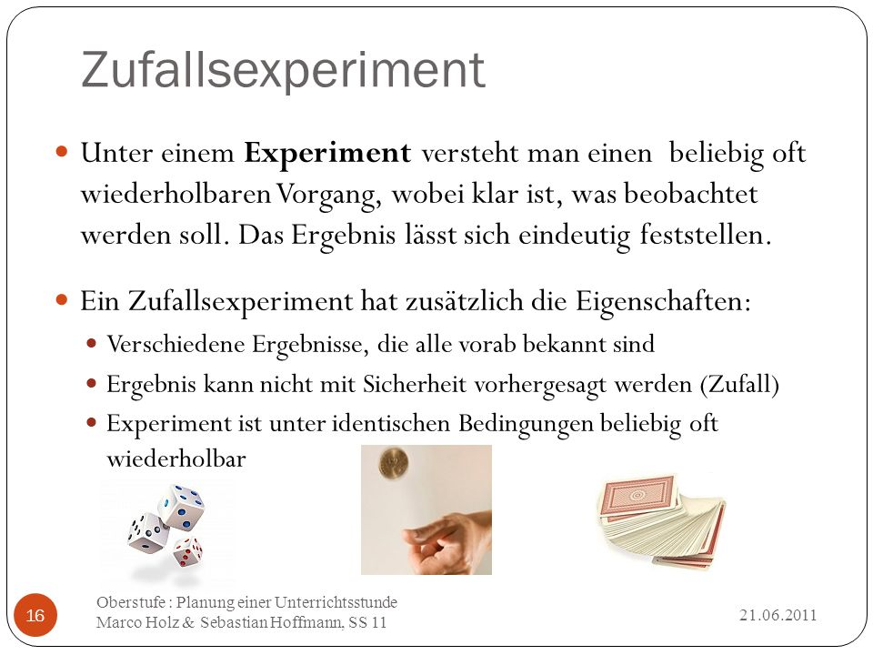 Zufallsexperiment