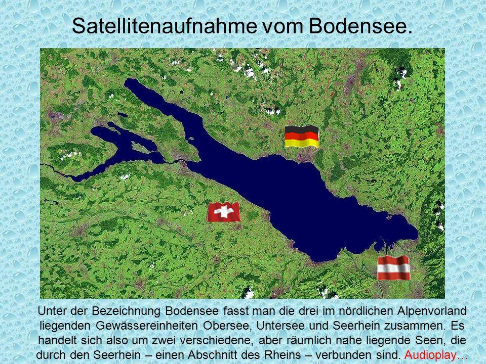 Satellitenaufnahme vom Bodensee.