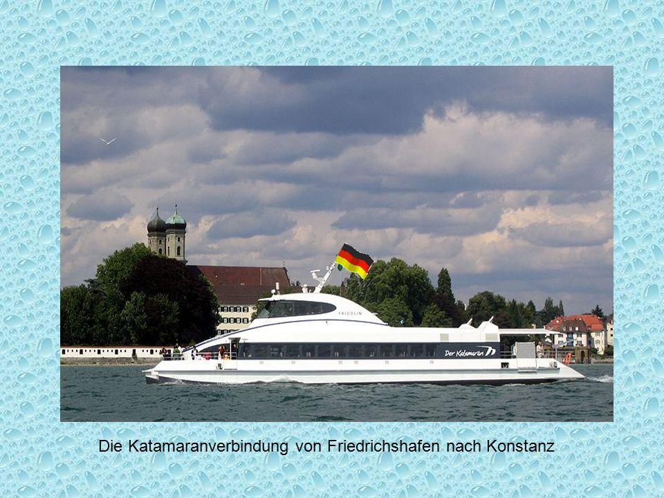 Die Katamaranverbindung von Friedrichshafen nach Konstanz