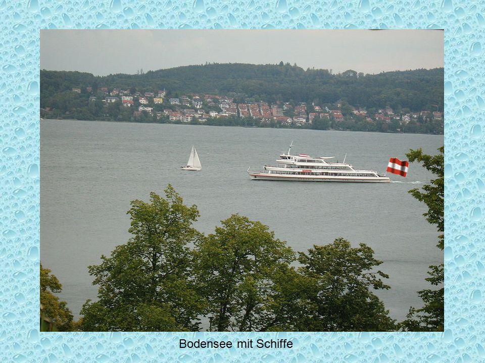 Bodensee mit Schiffe