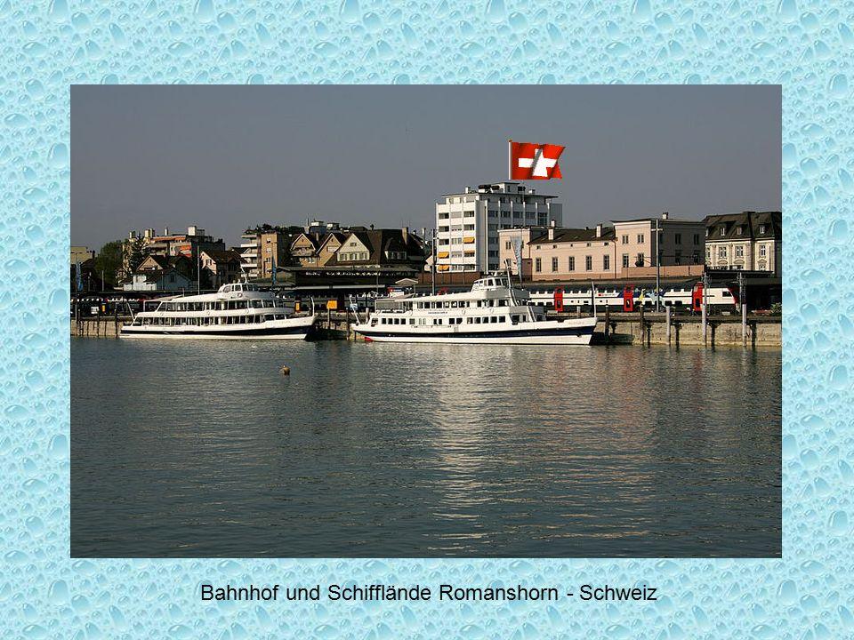 Bahnhof und Schifflände Romanshorn - Schweiz