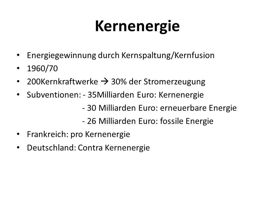 Kernenergie Energiegewinnung durch Kernspaltung/Kernfusion 1960/70