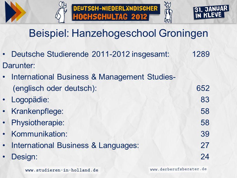 Beispiel: Hanzehogeschool Groningen
