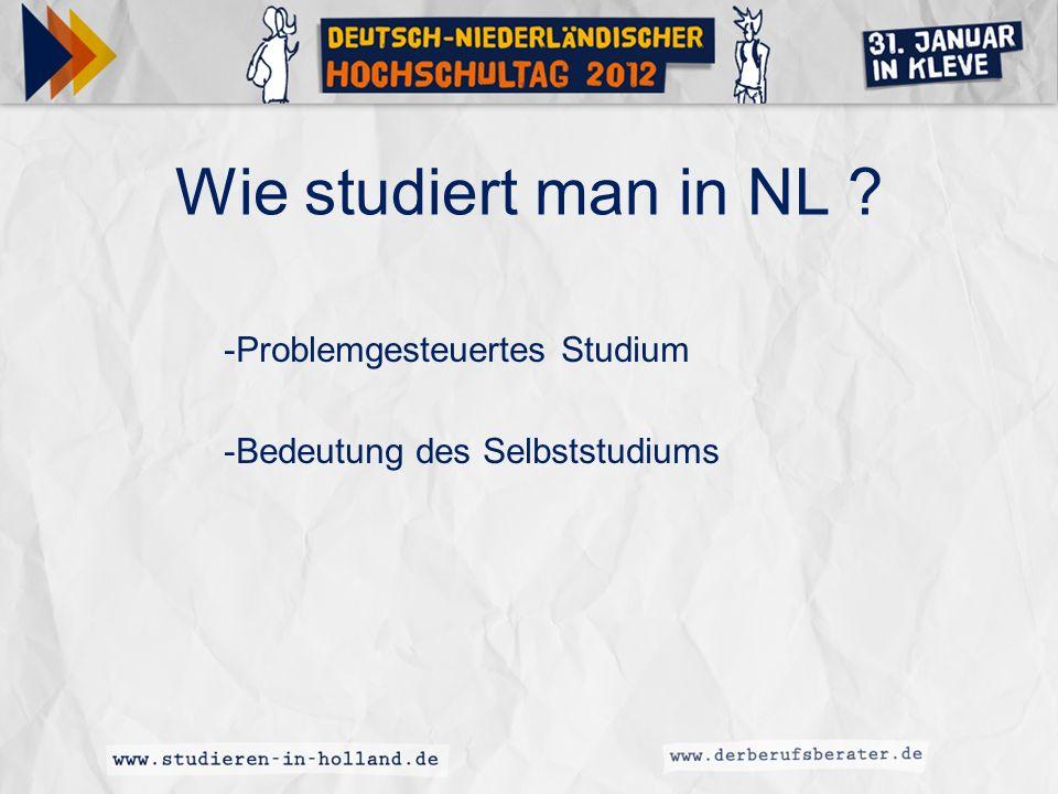 -Problemgesteuertes Studium -Bedeutung des Selbststudiums