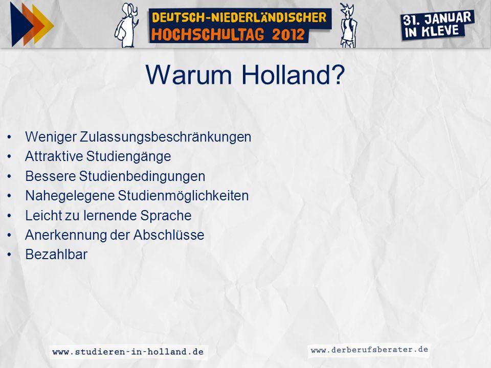 Warum Holland Weniger Zulassungsbeschränkungen